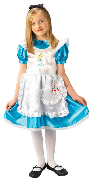 View Item Girl's Disney Alice in Wonderland Fancy Dress Costume
