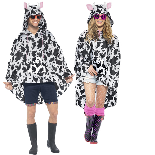 Poncho adults fancy dress festival waterproof mac unisex costumes