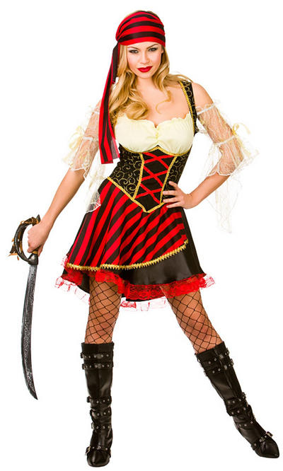 Ladies Glamorous Pirate Costume
