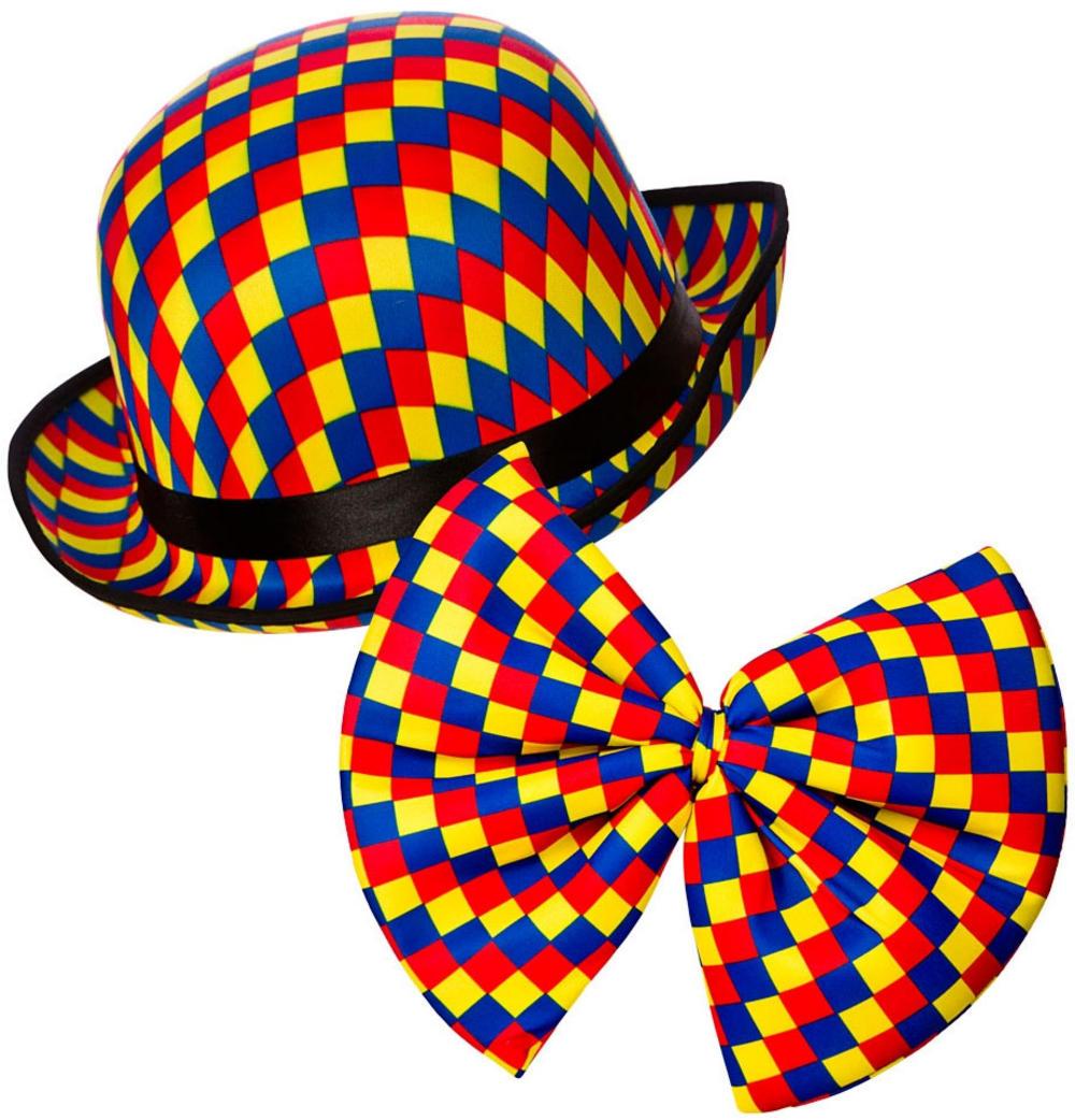 clown bowler hat bow tie clown accessories mega