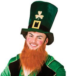 View Item Leprechaun Hat With Beard
