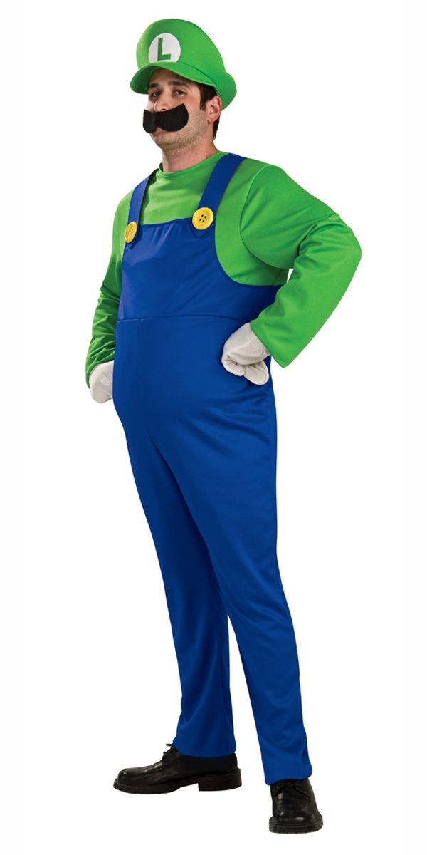 Deluxe-Luigi-Super-Mario-Bros-Fancy-Dress-1980s-Game-Mens-Adult-Costume-Hat