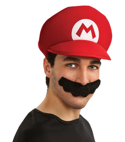 Super Mario Hat & Moustache Kit