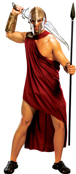 Men S 300 Spartan Fancy Dress Costume Tv Book And Film
