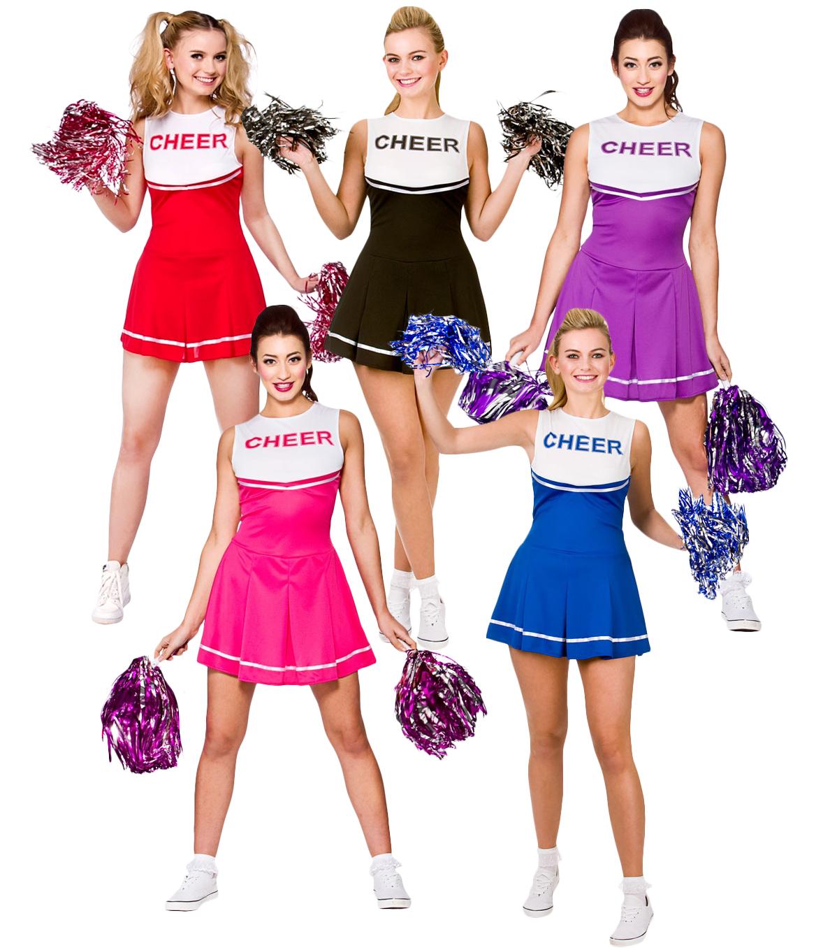 High School Cheerleader Ladies Fancy Dress Sports Uniform ...