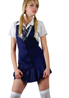 Sexy-School-Girl-Fancy-Dress-Ladies-Uniform-Womens-Outfit-Tie-UK-6-24