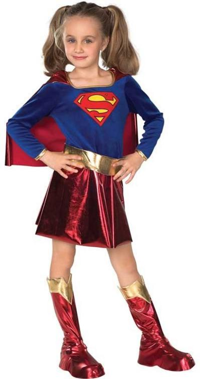 Girl's Supergirl Fancy Dress Costume