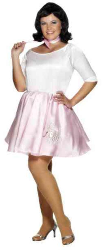 View Item Plus Size 50s Poodle Dress Costume