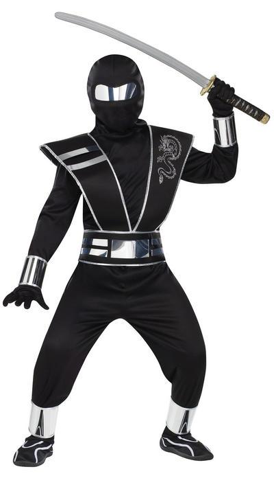 Boys Silver Mirror Ninja Costume