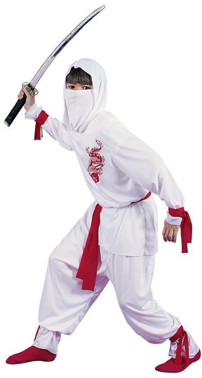 Boys Deluxe White Ninja Costume