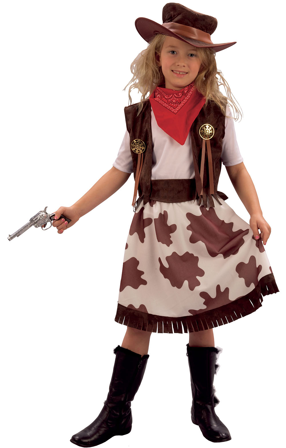 cowgirl childs fancy dress kids wild western girls costume outfit cowboy hat ebay. Black Bedroom Furniture Sets. Home Design Ideas
