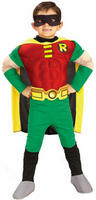 View Item Boy's Teen Titans Deluxe Muscle Chest Robin Fancy Dress Costume