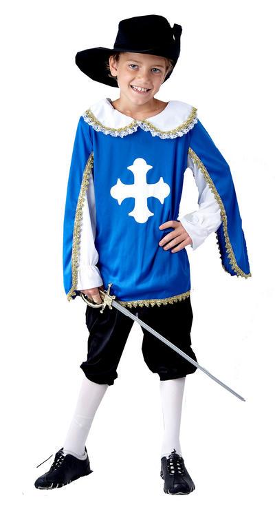 Boys Blue Musketeer Costume
