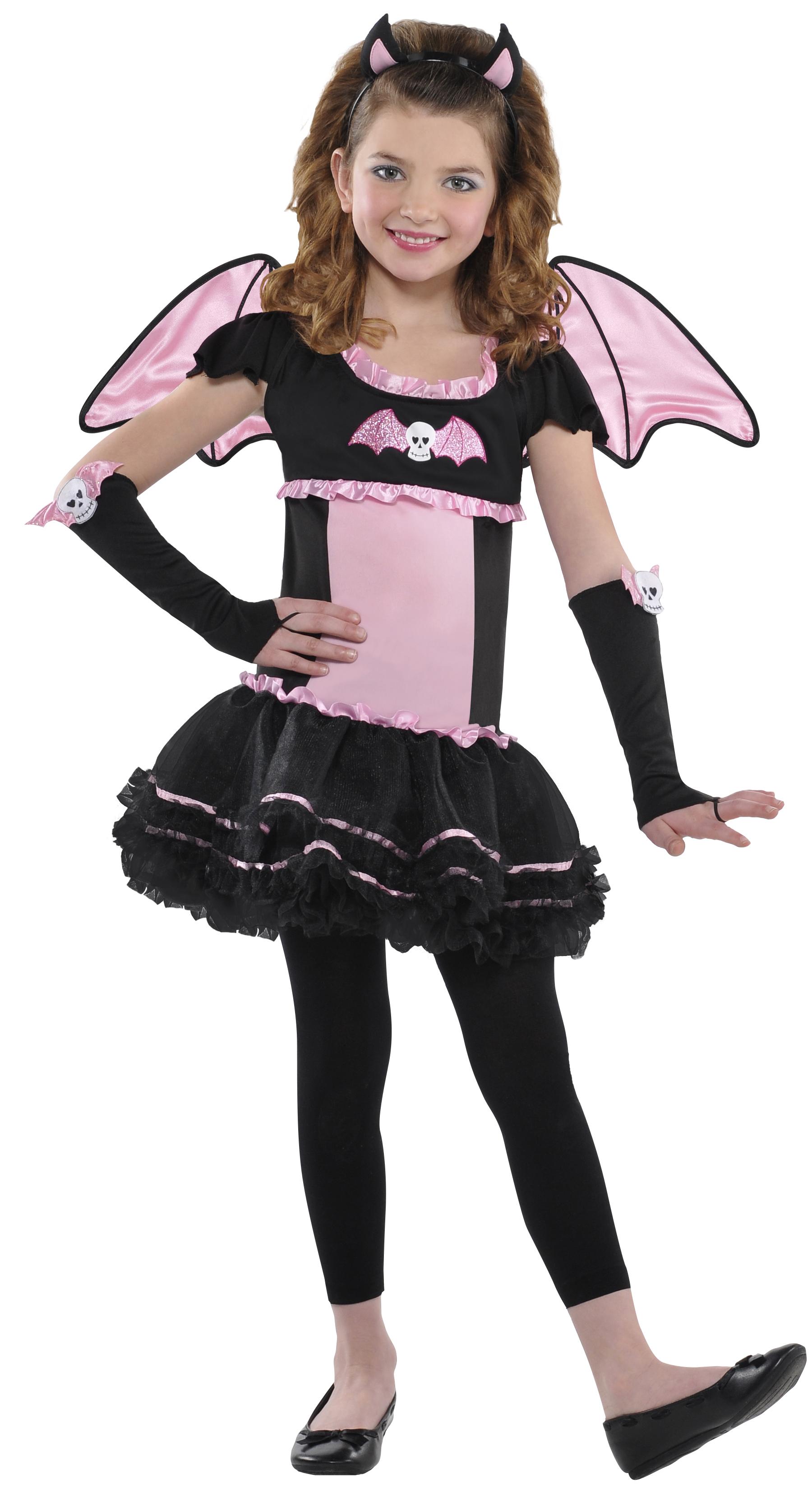 Ballerina Bat Vampires Girls Fancy Dress Halloween Party Childs ...