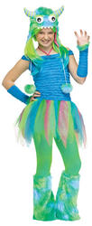 View Item Girls Blue Beastie Costume