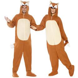 Adults Fox Fancy Dress Costume