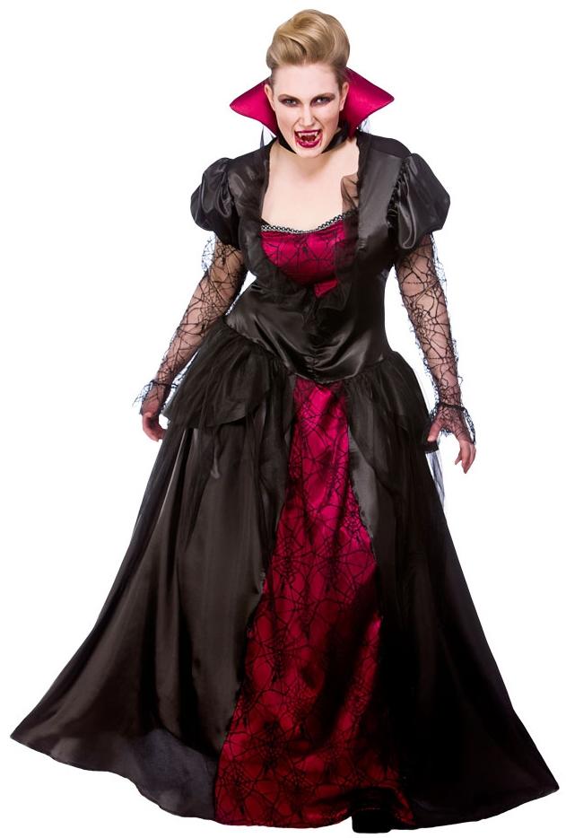 vampire queen uk 18 20 ladies fancy dress halloween plus size vampiress costume ebay