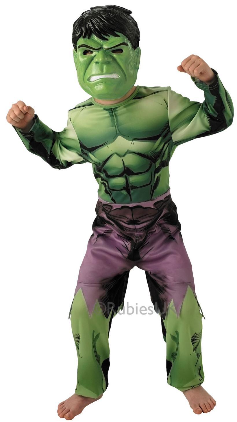 incredible hulk boys marvel comics fancy dress kids superhero childs costume new