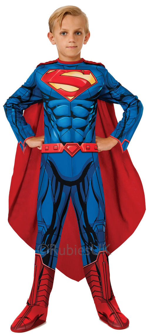 Boys Fancy Dress; Superman; Click image to zoom in/out Images are for illustration purposes only. Superman. Child Man of Steel Superman Costume DELUXE. £ Child Metallic Chest Superman Costume. Includes metallic muscle chest jumpsuit and cape. £ Child Superman Cape.