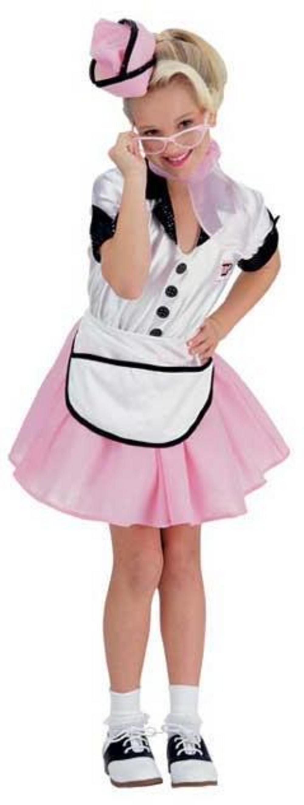 Diner Uniform Costume Pop Diner Girl Costume