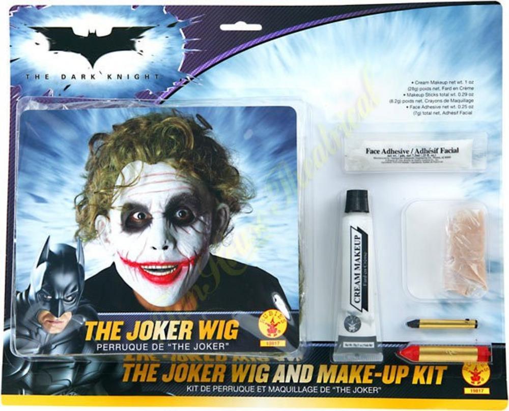 The Joker Deluxe Wig u0026 Makeup Kit : Menu0026#39;s Fancy Dress Wigs : Mega ...