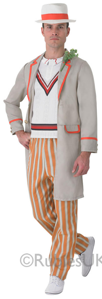 Mens 5th Doctor Peter Davidson Costume