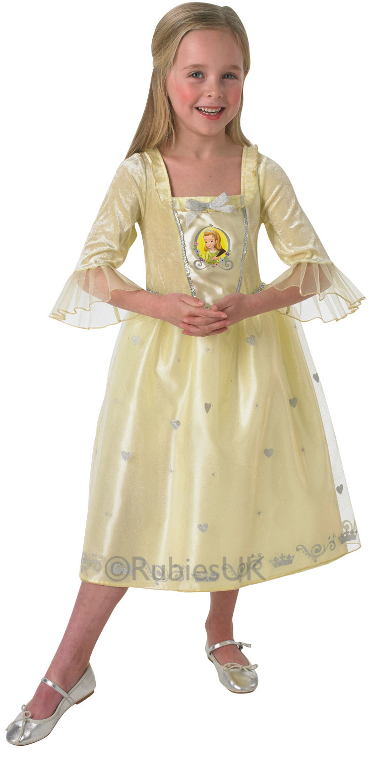 Amber Princess Girls Sofia The First Fancy Dress Childrens Princess Costume From Sofia The Printable