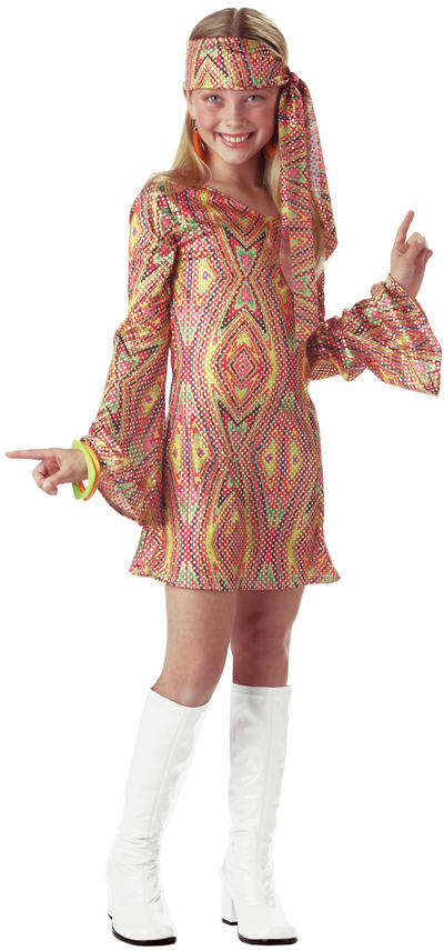 Girls Disco Dolly Costume