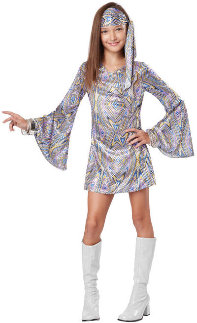 Girls Disco Darling Child 60s Costume