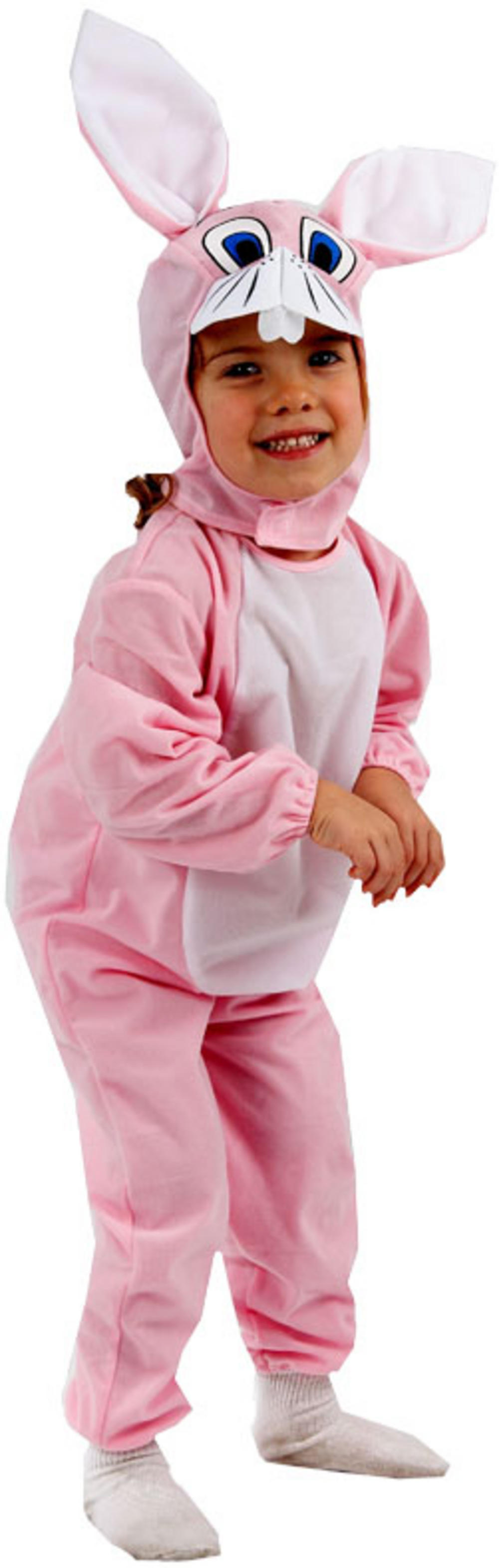 Rabbit costumes are very much admired by kids and adults both. It gives a sweet glance to the kids and funny view to the adults. A rabbit costume is made of velvet .
