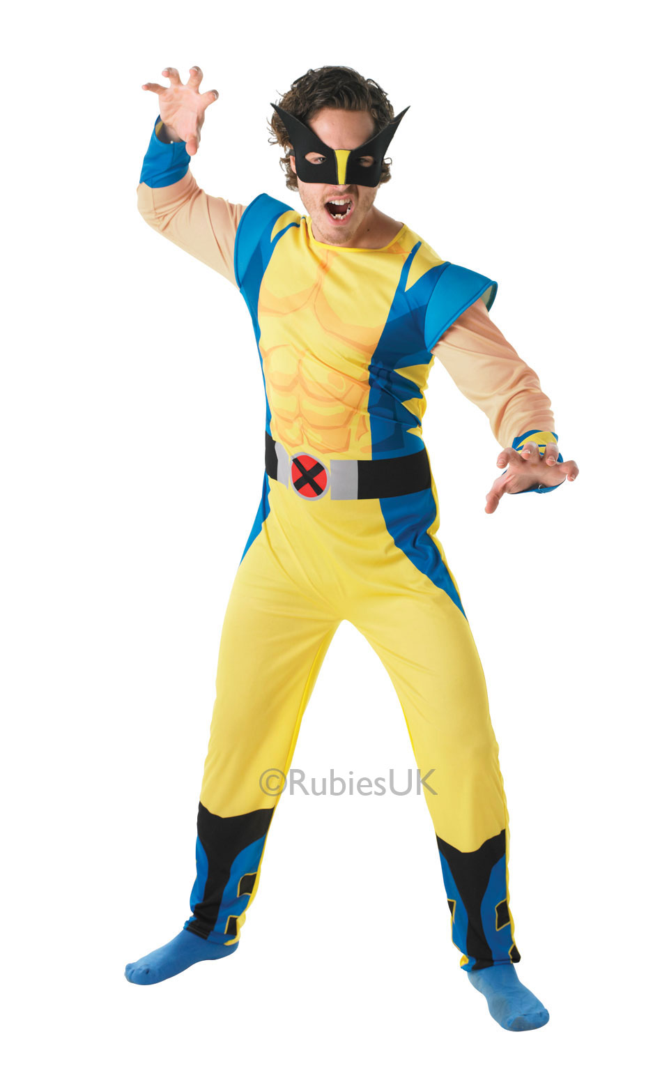 Superhero Mens Fancy Dress Marvel Comic Book Character Halloween ...