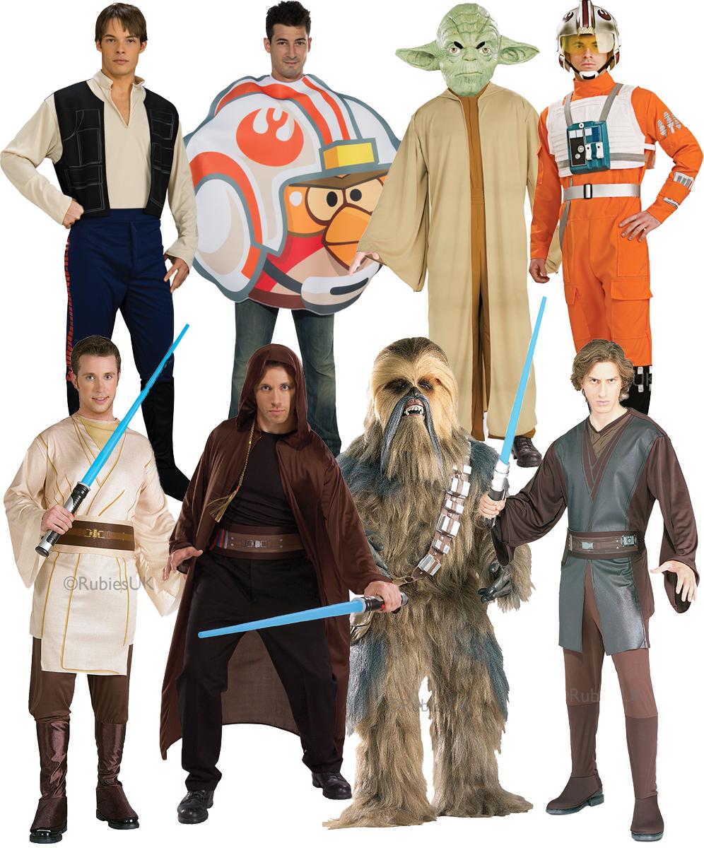 Star Wars Mens Fancy Dress Halloween Space Sci-Fi Film Characters ...