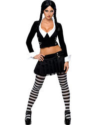 View Item Addams Family Sexy Wednesday Addams Costume
