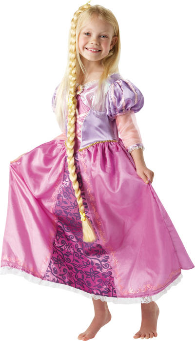 View Item Girl's Disney Princess Rapunzel Deluxe Fancy Dress Costume
