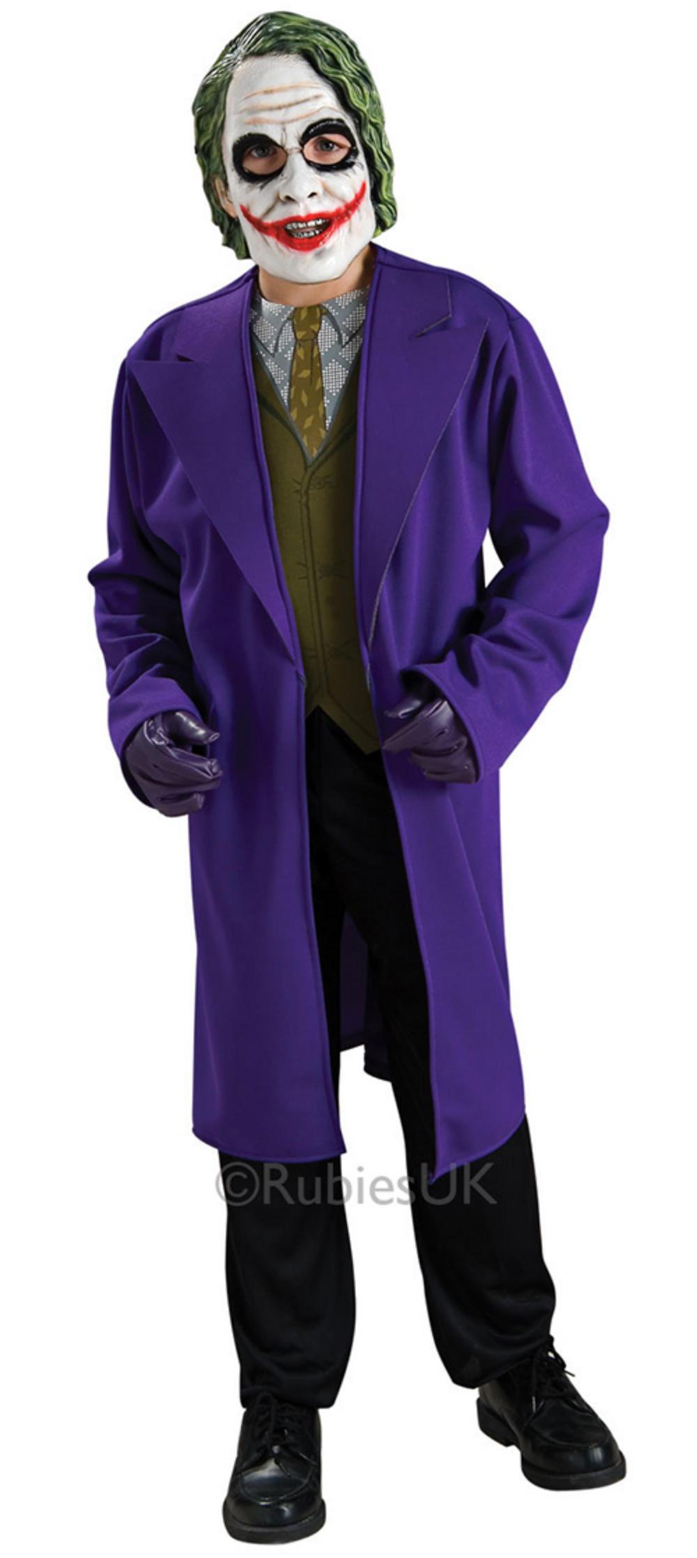 boy 39 s batman deluxe joker fancy dress costume tv book and film costumes mega fancy dress. Black Bedroom Furniture Sets. Home Design Ideas