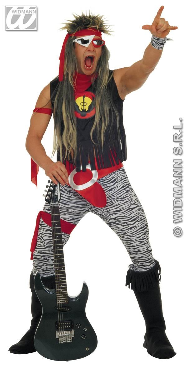 rock star 80s fancy dress adult mens rocker 1980s costume
