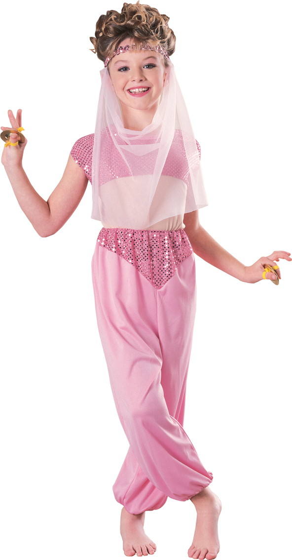 Arabian-Pink-Princess-Girls-Fancy-Dress-Kids-Jasmine-  sc 1 st  eBay & Arabian Pink Princess Girls Fancy Dress Kids Jasmine Costume 3456 ...