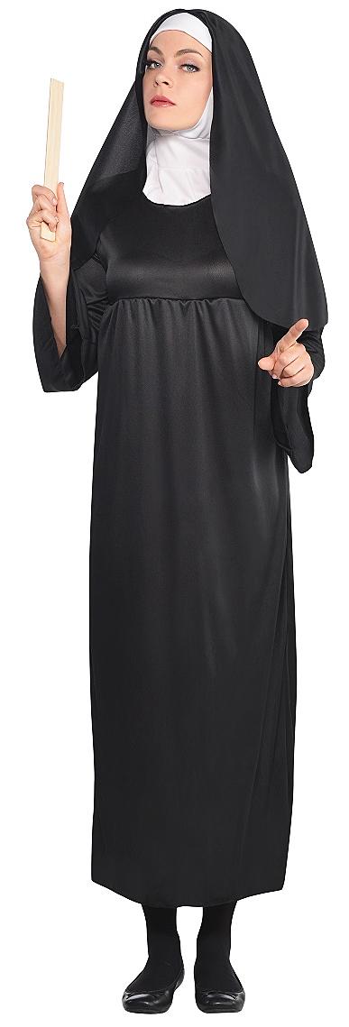 nun ladies fancy dress adult womens halloween saints sinners religious costume. Black Bedroom Furniture Sets. Home Design Ideas