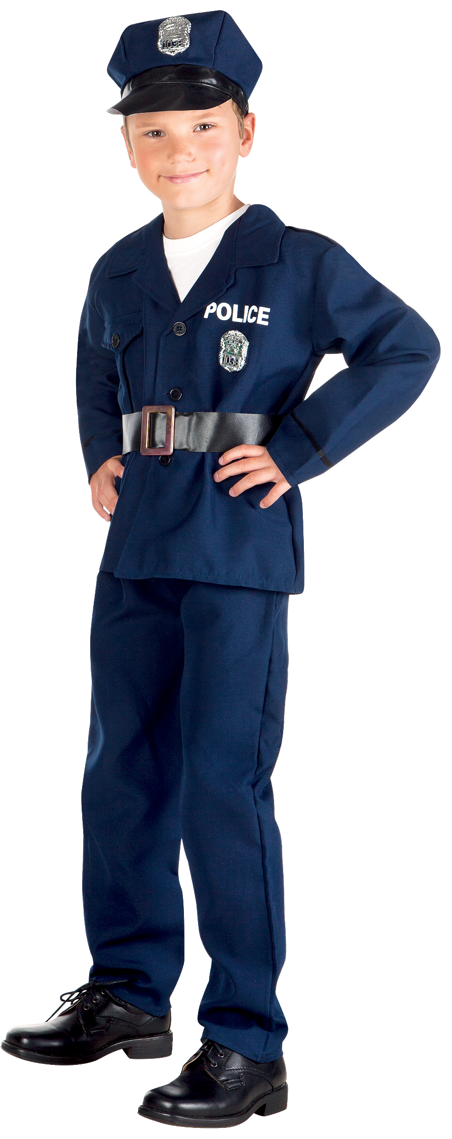 police officer hat boys fancy dress american cop uniform