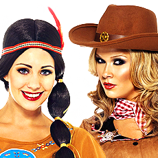 Cowgirls and Indians Fancy Dress