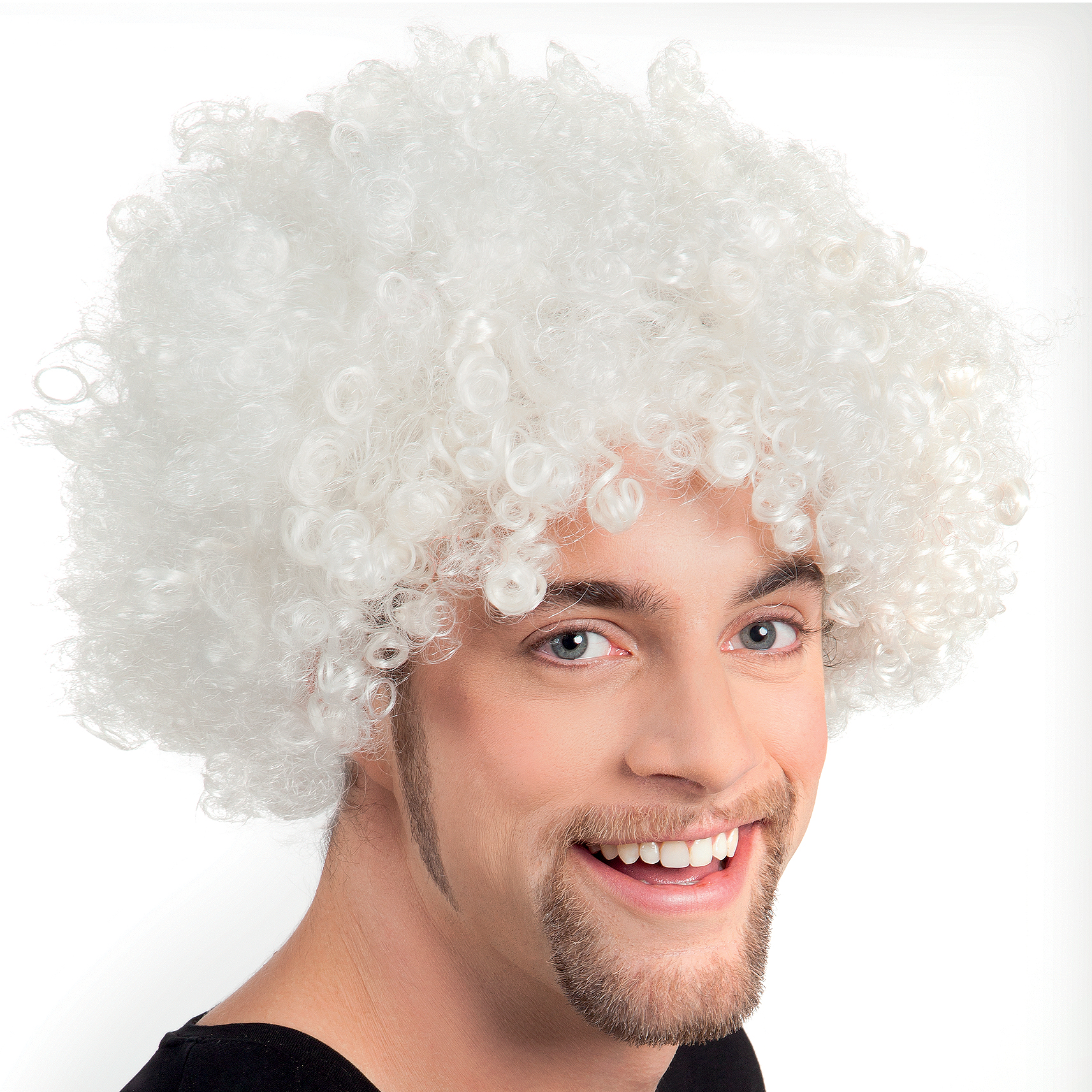 Mens White Afro Wig 99