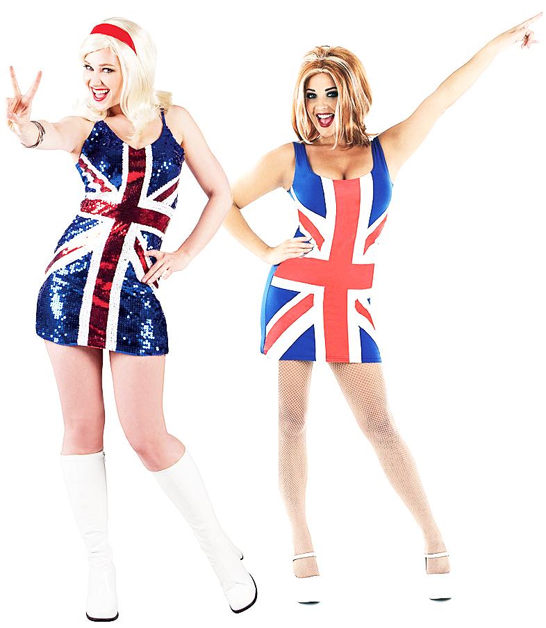 Womens Ginger Spice Union Jack Geri Dress   eBay  Ginger Spice British Dress