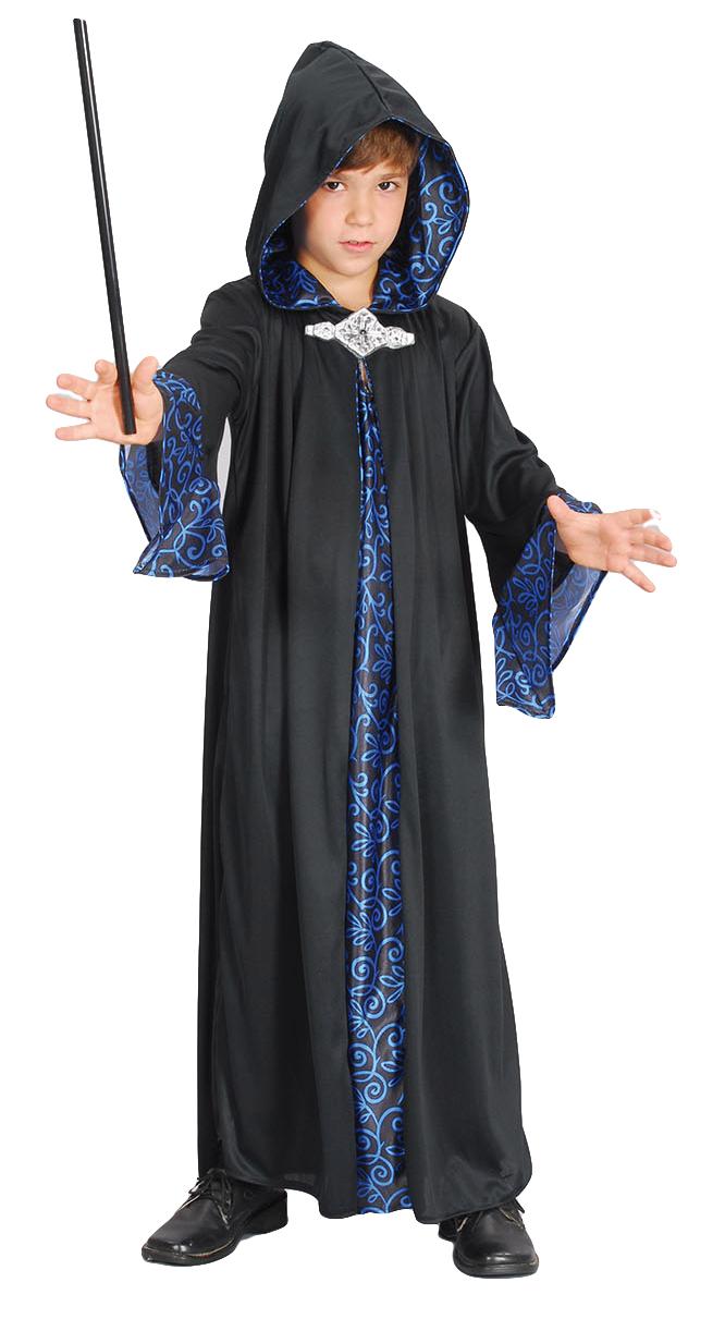 Wizard Robe Boys Fancy Dress Halloween Fairytale Magical Kids ...