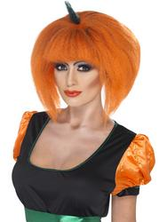 View Item Ladies' Halloween Orange Pumpkin Wig