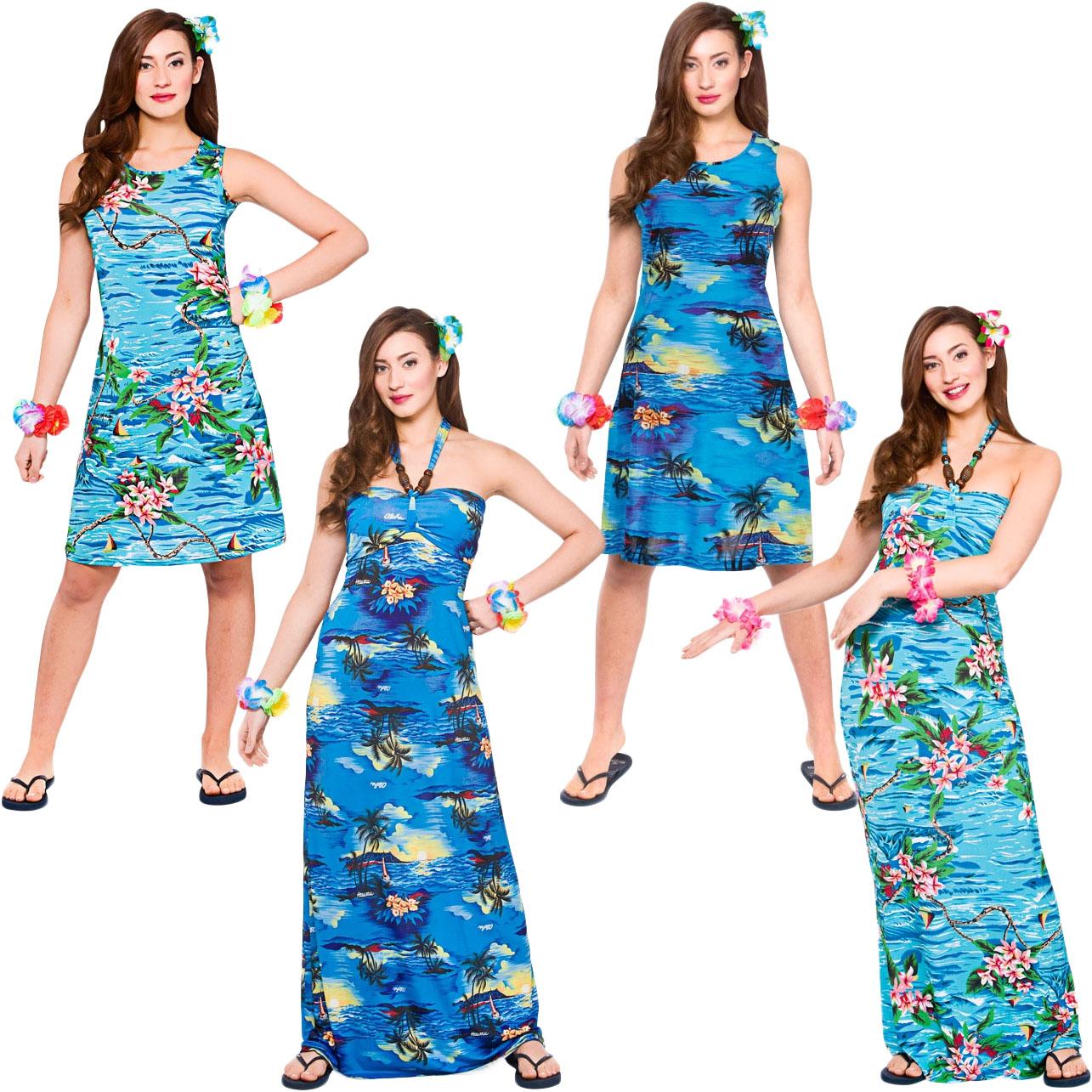 Hawaiian Ladies Fancy Dress Tropical Beach Hawaii Womens Adults Costume Outfit | eBay