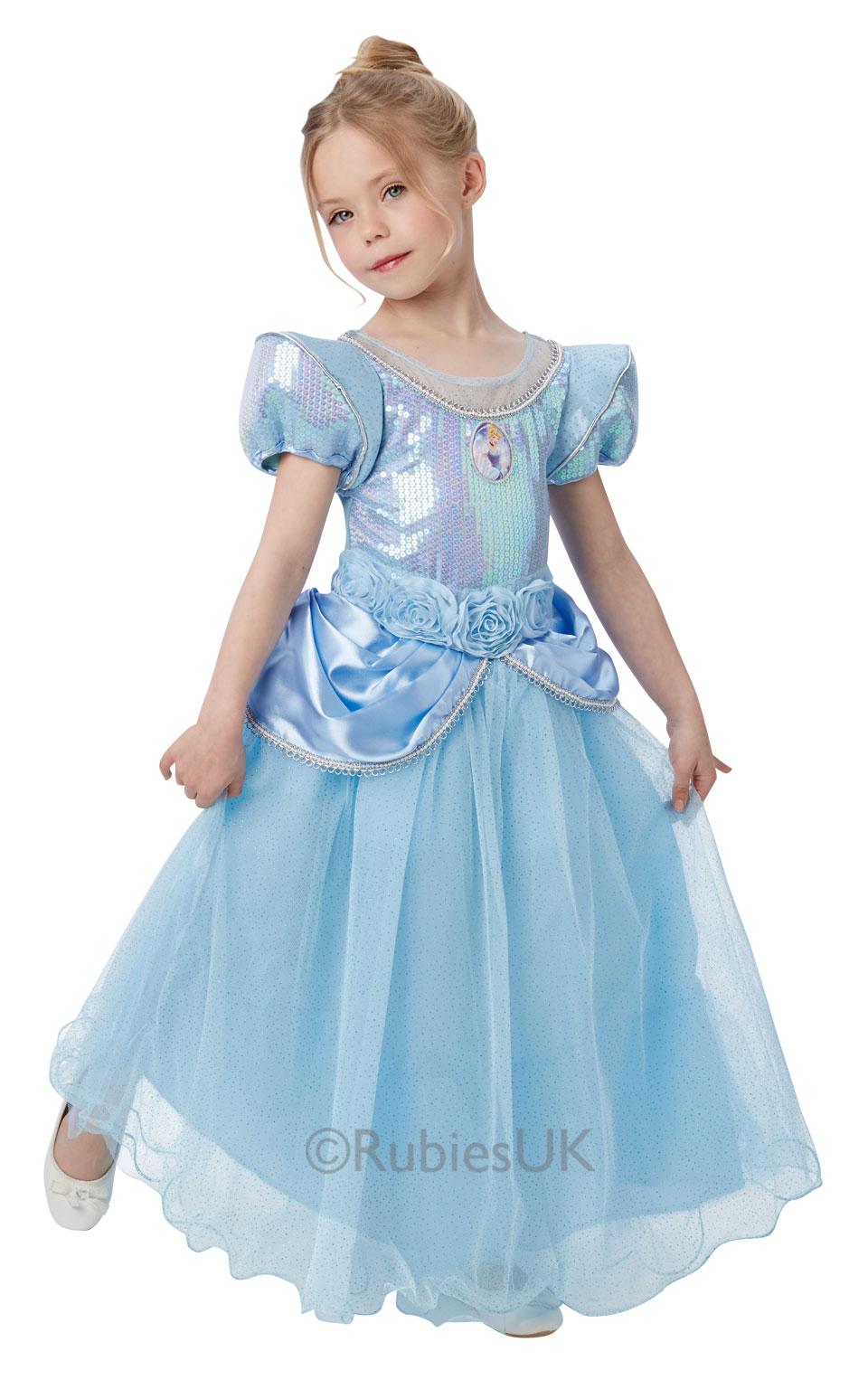 Disney Premium Cinderella Girls Fancy Dress Princess Kids ...