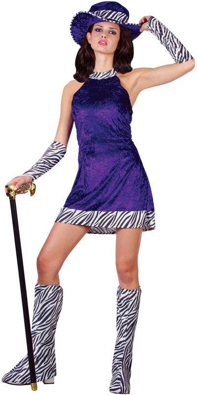 Image is loading Pimp-Daddy-039-s-Girl-Ladies-70s-Purple-  sc 1 st  eBay & Pimp Daddyu0027s Girl Ladies 70s Purple Fancy Dress Costume | eBay