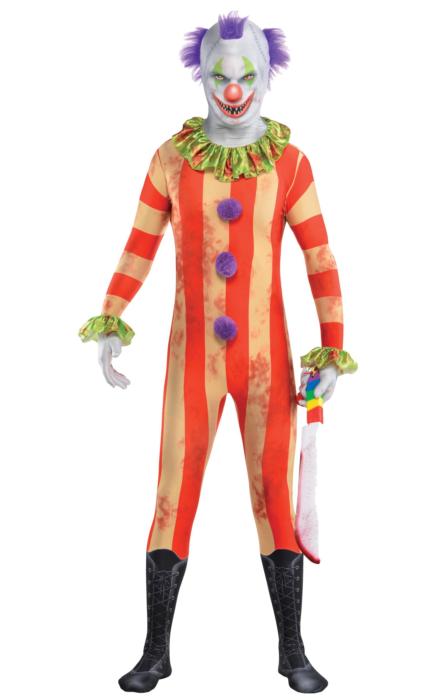 Scary Clown Age 10-14 Boys Fancy Dress Halloween Joker Circus Kids ...