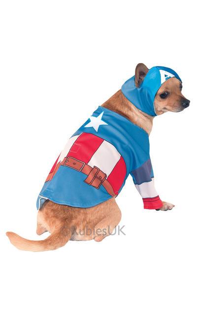 Captain America Pet Dog Costume
