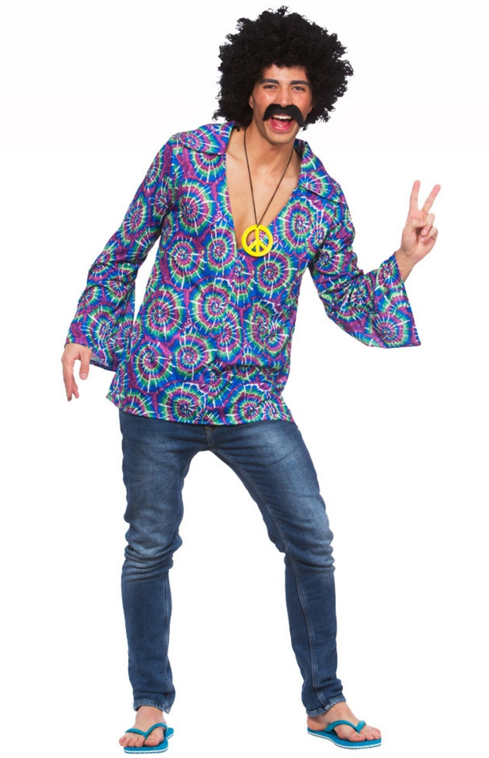 Funky Hippie Shirt Mens Costume | 60s Costumes | Mega Fancy Dress